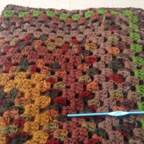 Lap blanket for a local hospice